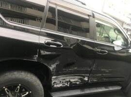 静岡、浜松エリアの事故車・廃車事例:ランドクルーザープラド TX 7人乗り ガソリン