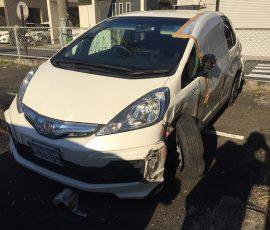 事故車買取 フィットハイブリット 神奈川県横浜市 廃車