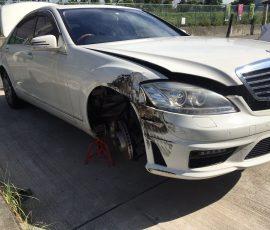 事故車買取メルセデスベンツS550  大阪府豊中市